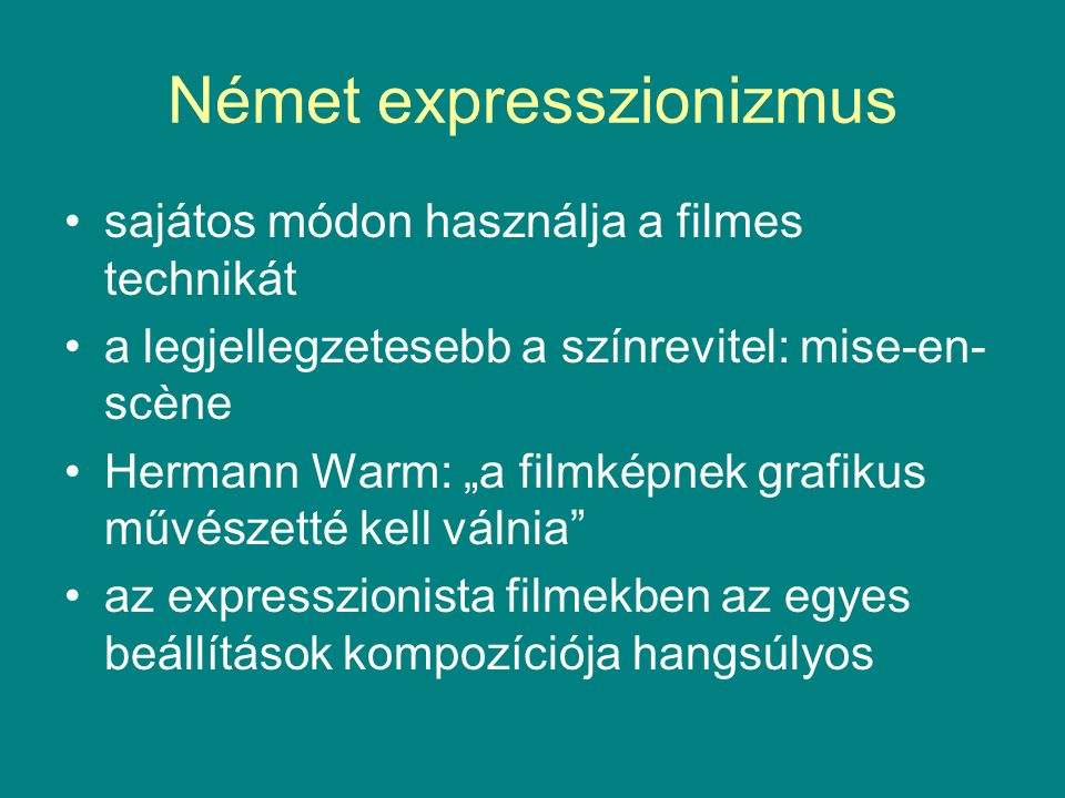 Német expresszionizmus