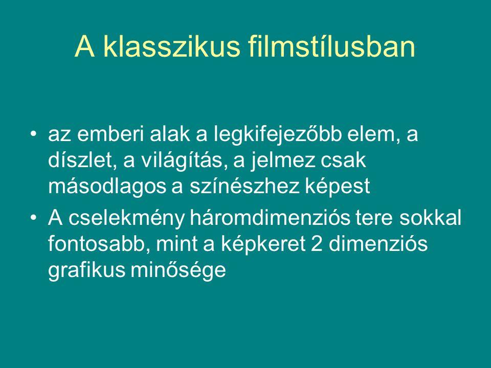 A klasszikus filmstílusban