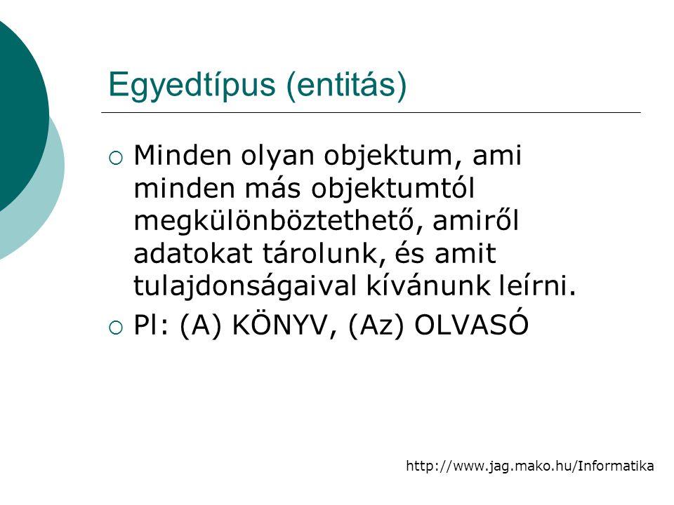 Egyedtípus (entitás)
