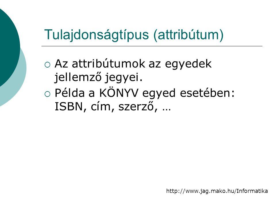 Tulajdonságtípus (attribútum)