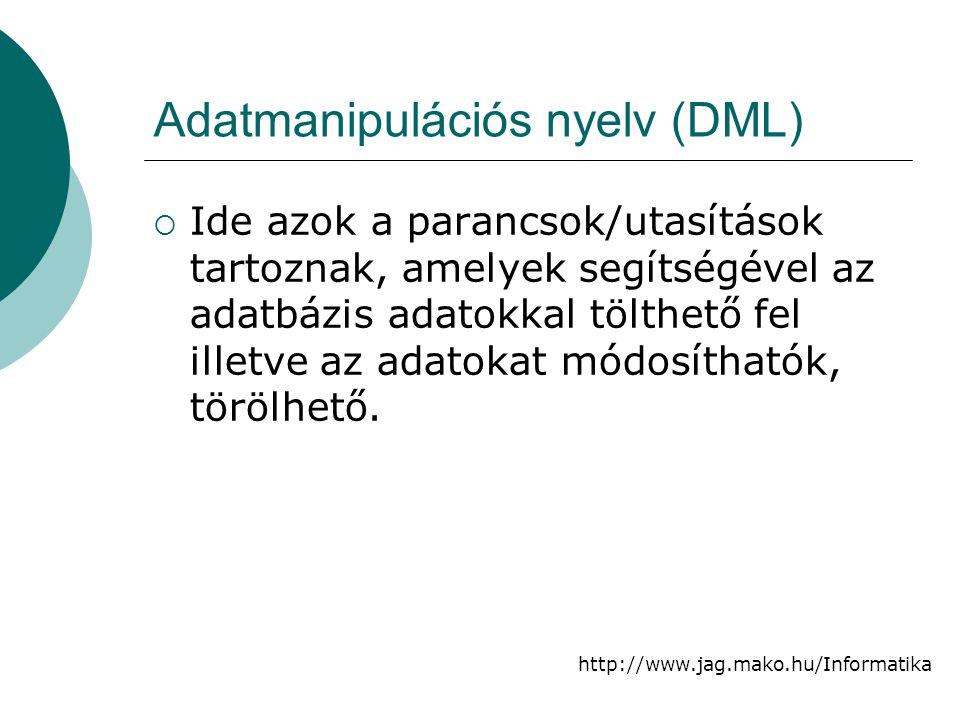 Adatmanipulációs nyelv (DML)