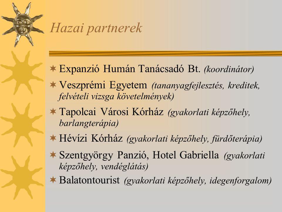Hazai partnerek Expanzió Humán Tanácsadó Bt. (koordinátor)