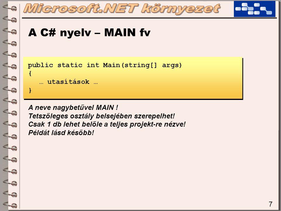 Microsoft.NET környezet