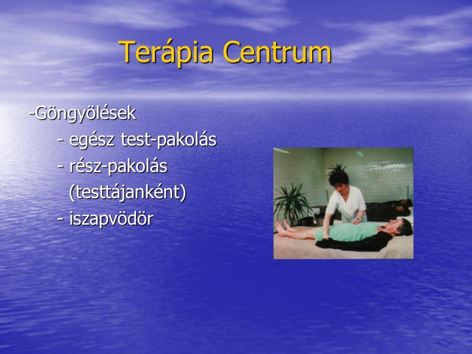 Terápia Centrum -Göngyölések - egész test-pakolás - rész-pakolás