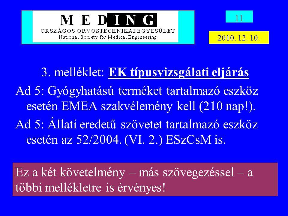 3. melléklet: EK típusvizsgálati eljárás