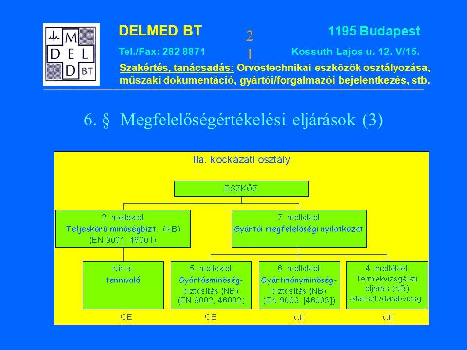 6. § Megfelelőségértékelési eljárások (3)