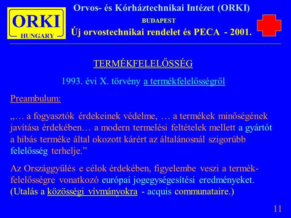 1993. évi X. törvény a termékfelelősségről