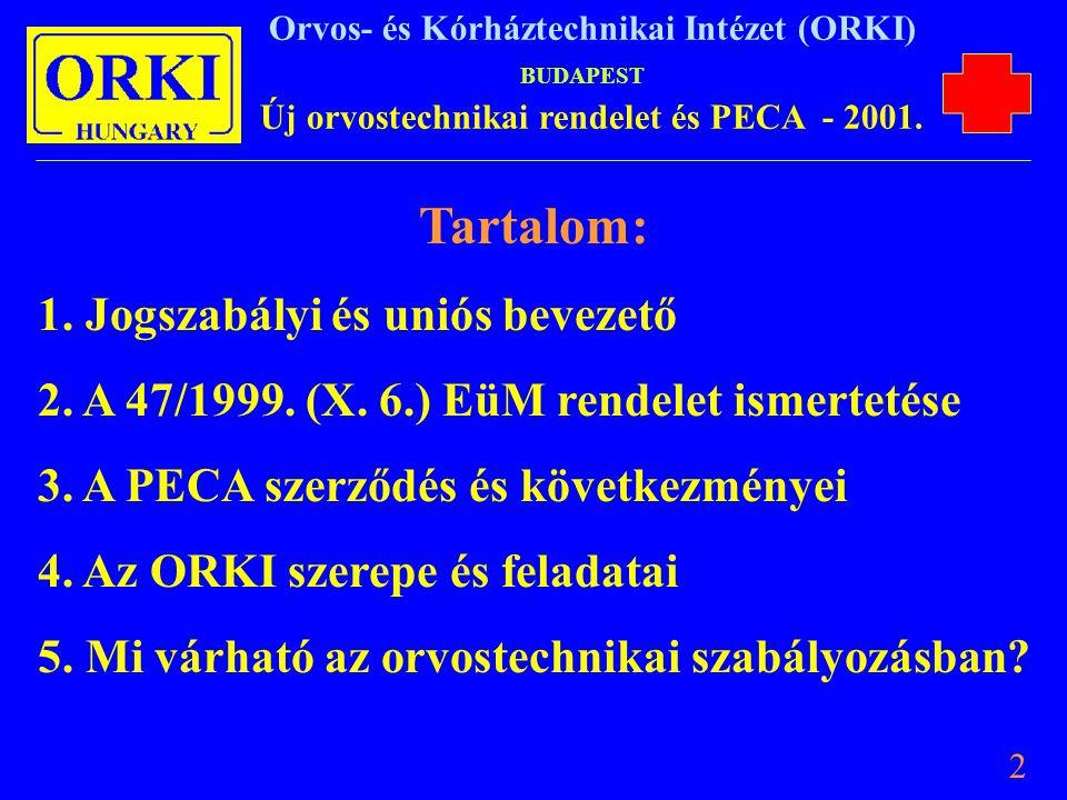 Tartalom: 1. Jogszabályi és uniós bevezető