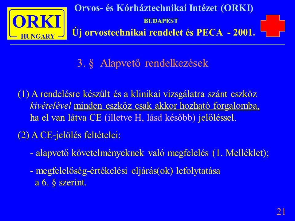 3. § Alapvető rendelkezések