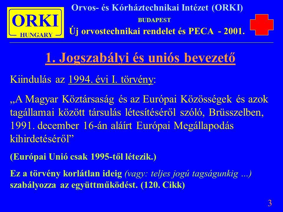 1. Jogszabályi és uniós bevezető