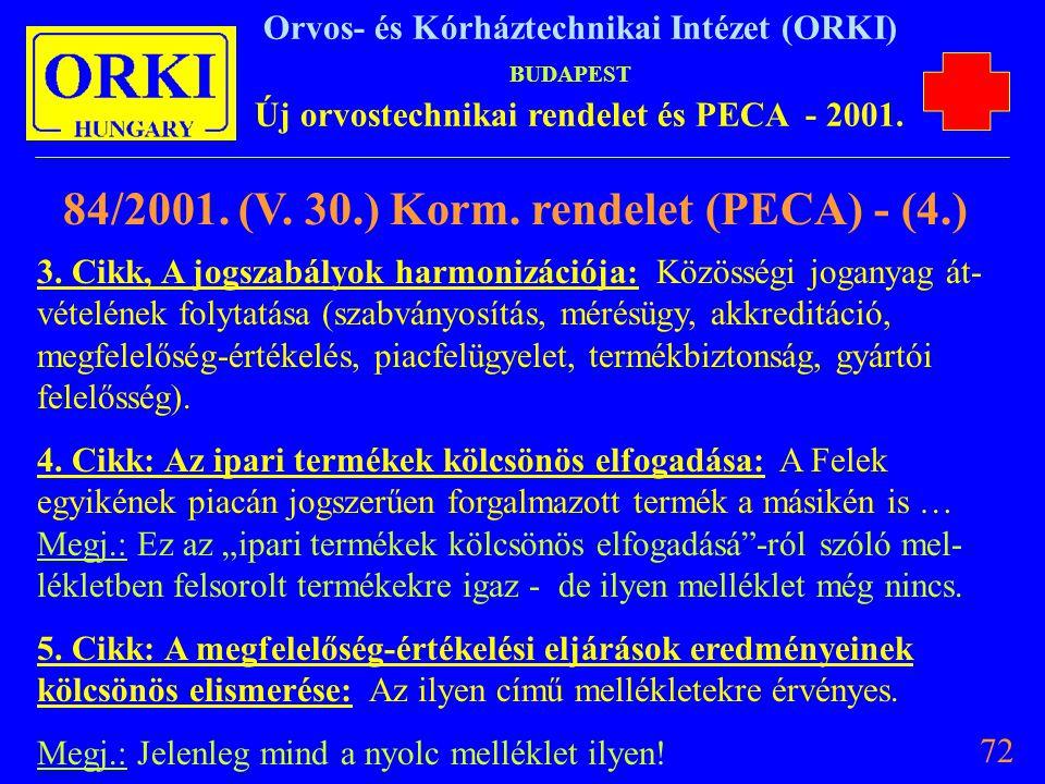 84/2001. (V. 30.) Korm. rendelet (PECA) - (4.)
