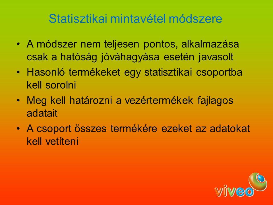 Statisztikai mintavétel módszere