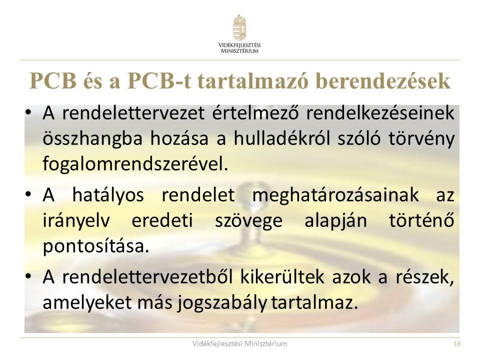 PCB és a PCB-t tartalmazó berendezések