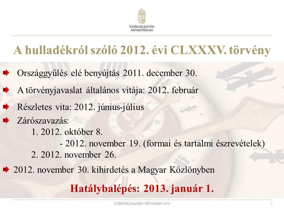 A hulladékról szóló 2012. évi CLXXXV. törvény