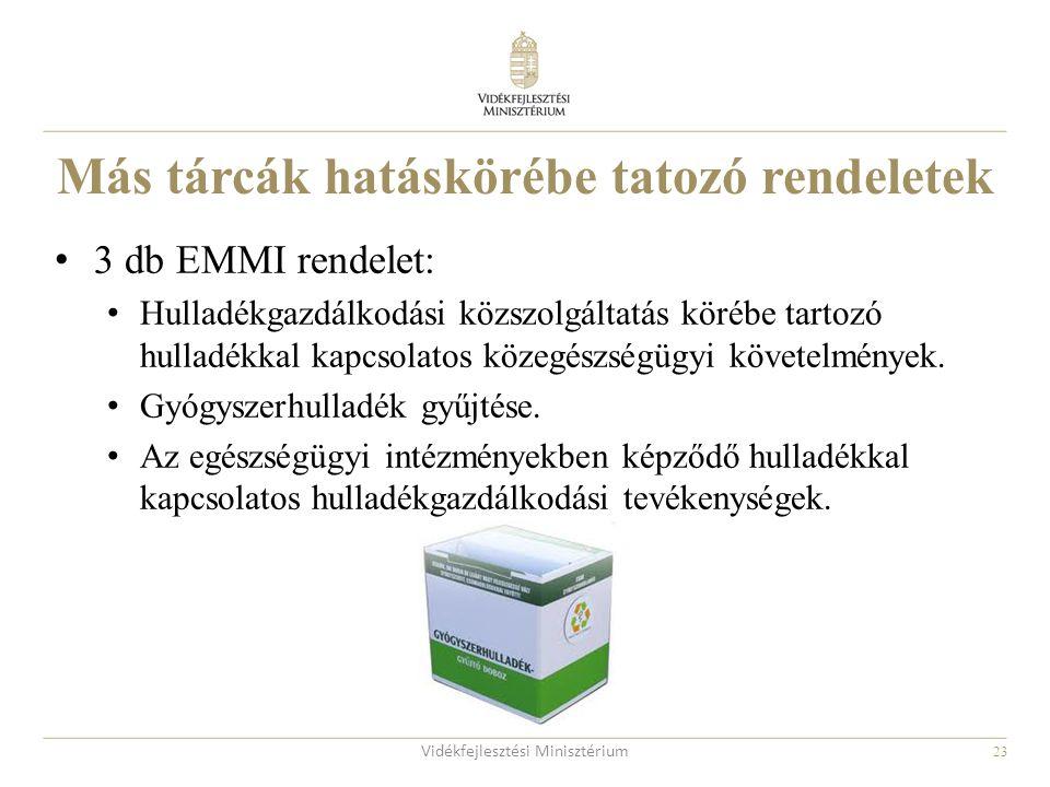 Más tárcák hatáskörébe tatozó rendeletek
