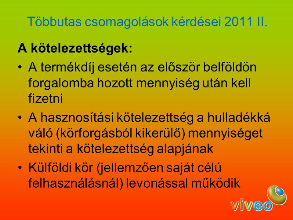 Többutas csomagolások kérdései 2011 II.