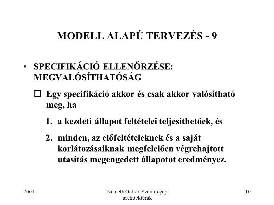MODELL ALAPÚ TERVEZÉS - 9