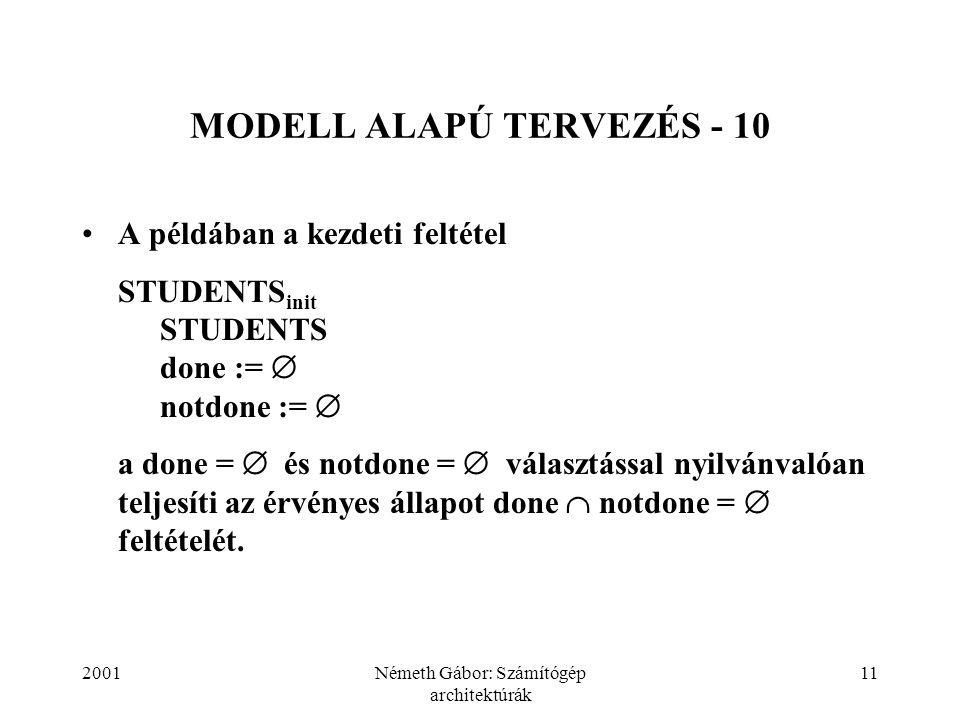 MODELL ALAPÚ TERVEZÉS - 10