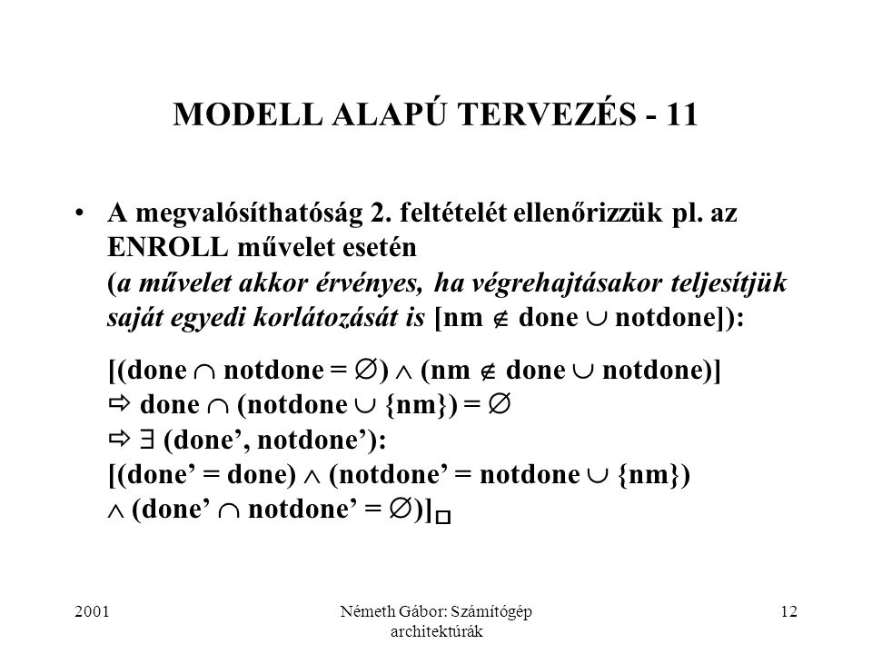MODELL ALAPÚ TERVEZÉS - 11