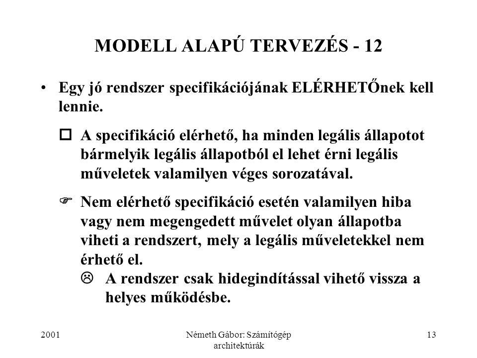 MODELL ALAPÚ TERVEZÉS - 12