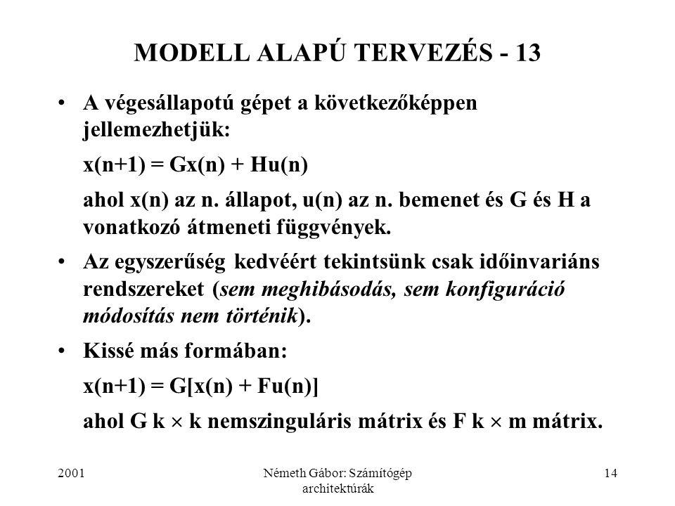 MODELL ALAPÚ TERVEZÉS - 13