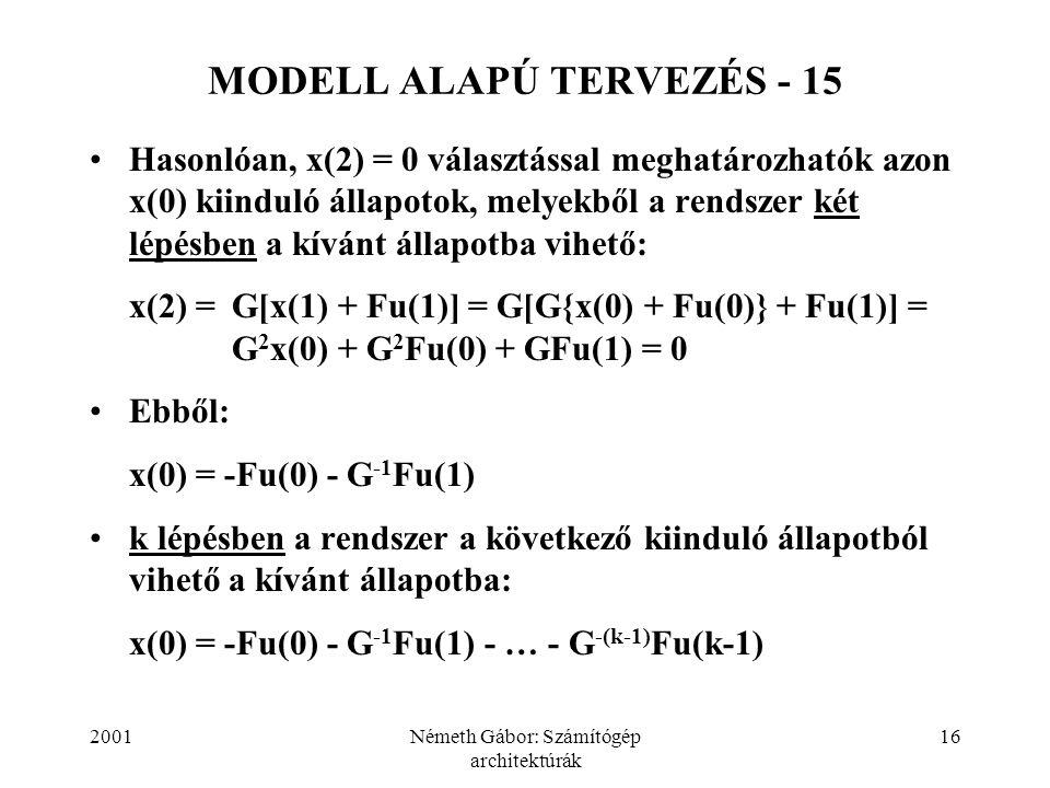 MODELL ALAPÚ TERVEZÉS - 15