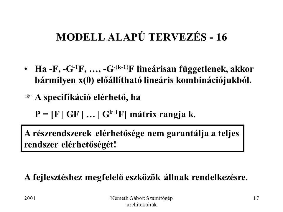 MODELL ALAPÚ TERVEZÉS - 16