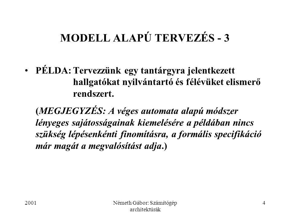 MODELL ALAPÚ TERVEZÉS - 3