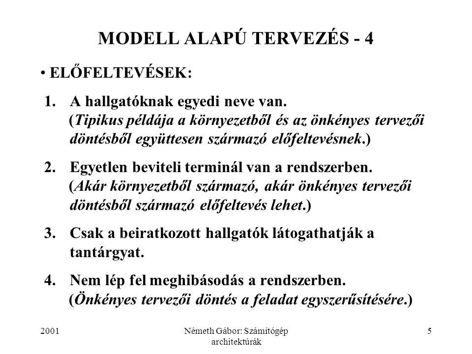 MODELL ALAPÚ TERVEZÉS - 4