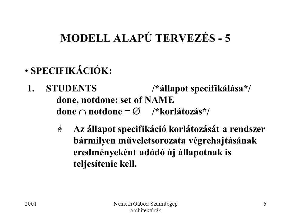 MODELL ALAPÚ TERVEZÉS - 5