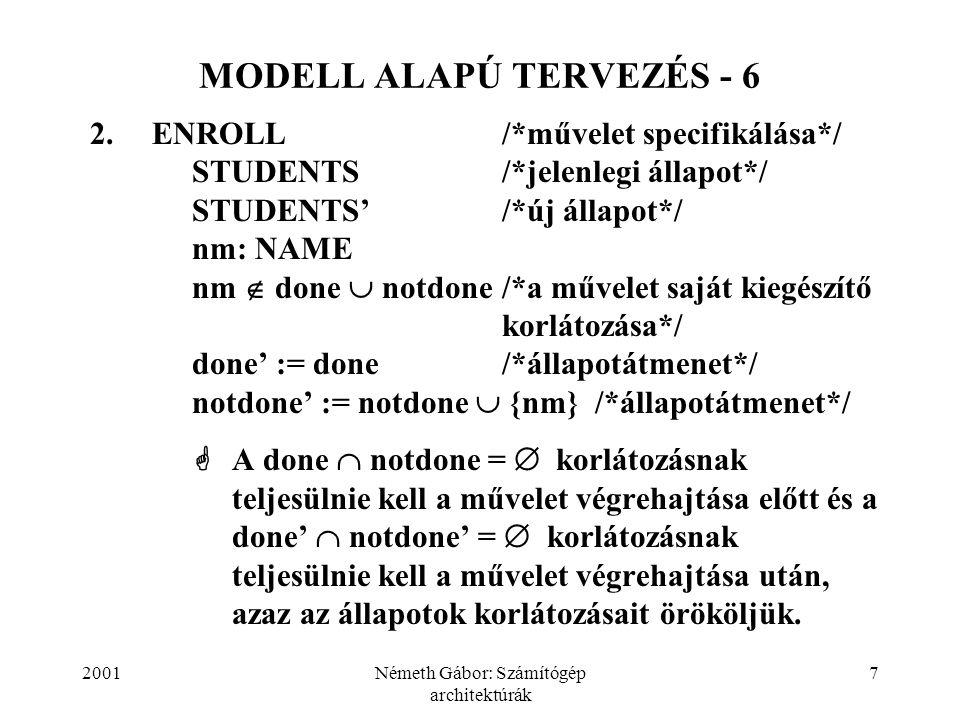 MODELL ALAPÚ TERVEZÉS - 6