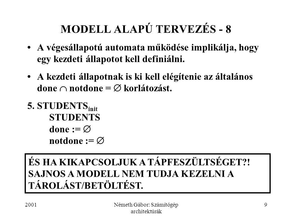 MODELL ALAPÚ TERVEZÉS - 8