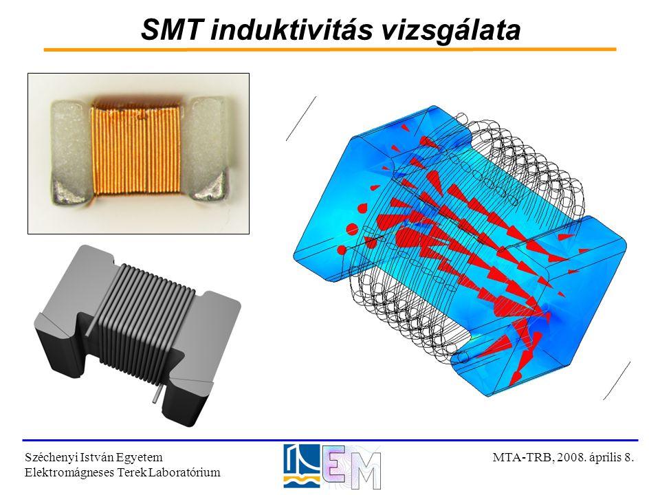 SMT induktivitás vizsgálata