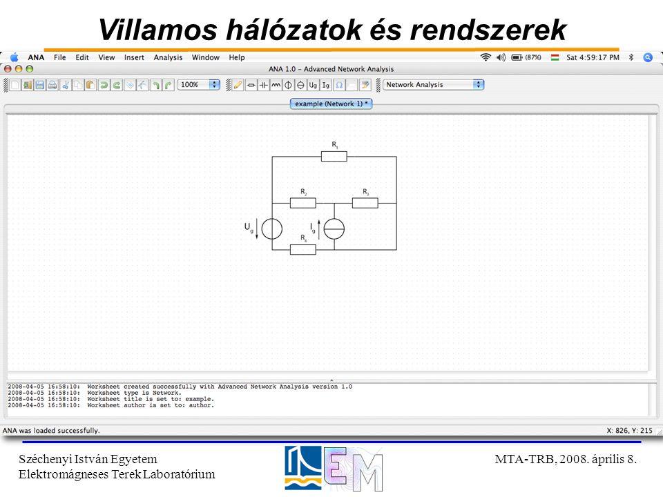 Villamos hálózatok és rendszerek