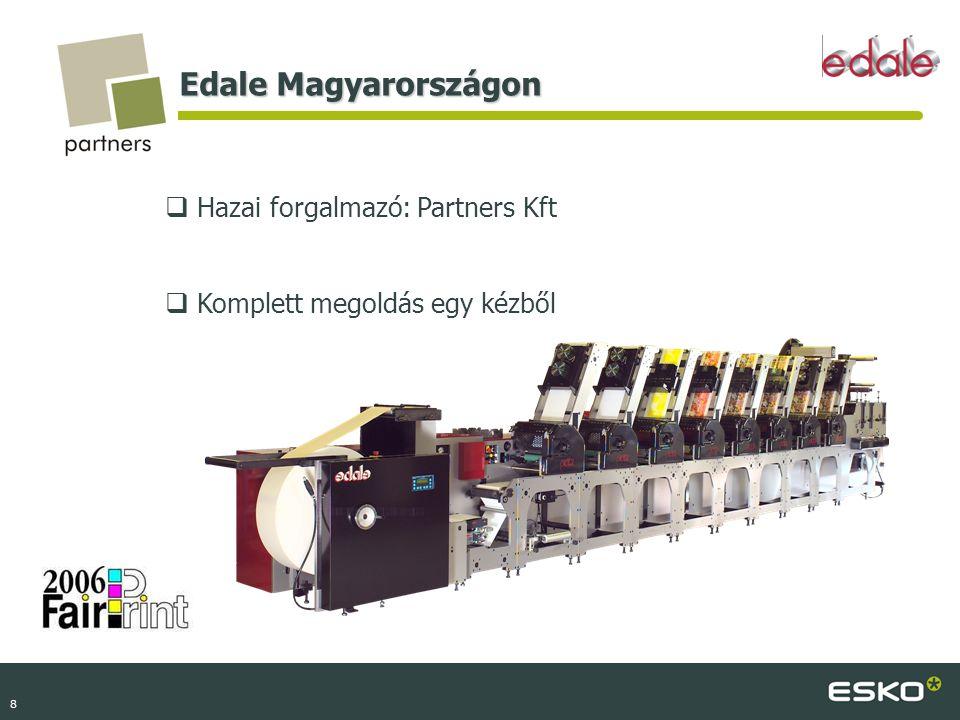 Edale Magyarországon Hazai forgalmazó: Partners Kft