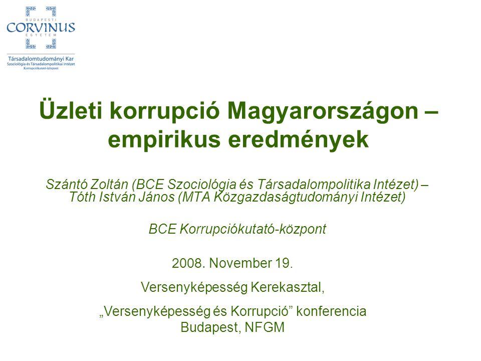 Üzleti korrupció Magyarországon – empirikus eredmények