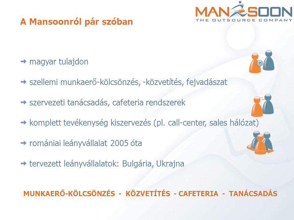 MUNKAERŐ-KÖLCSÖNZÉS - KÖZVETÍTÉS - CAFETERIA - TANÁCSADÁS