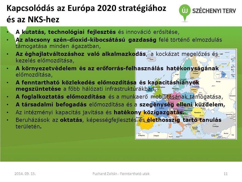 Kapcsolódás az Európa 2020 stratégiához és az NKS-hez