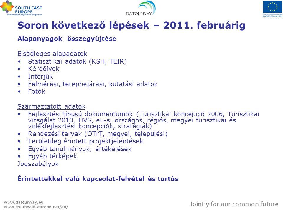 Soron következő lépések – 2011. februárig