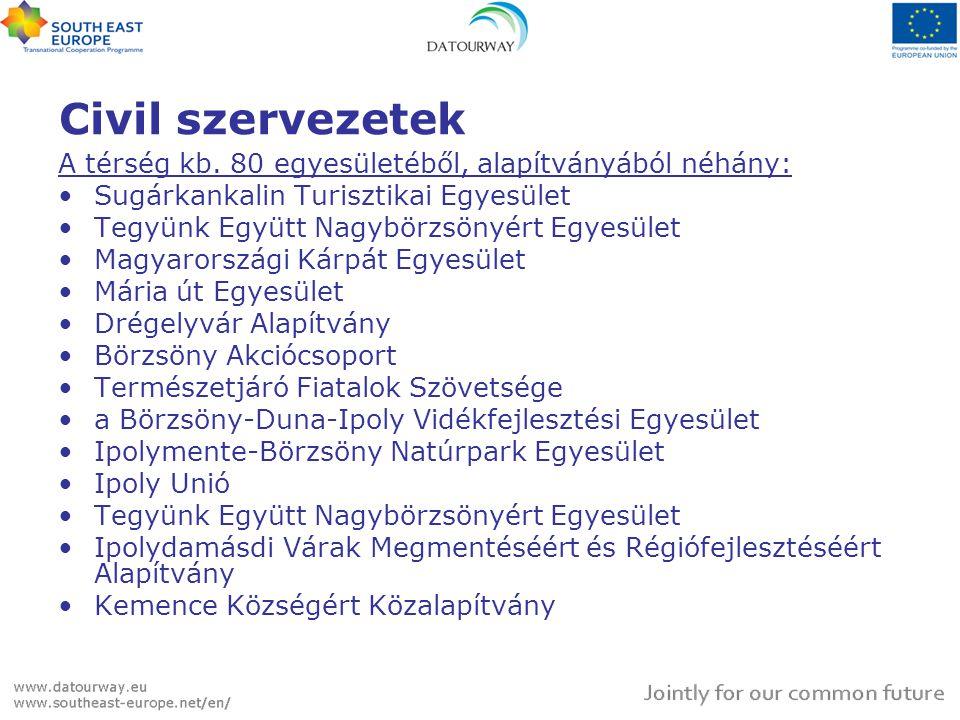 Civil szervezetek A térség kb. 80 egyesületéből, alapítványából néhány: Sugárkankalin Turisztikai Egyesület.