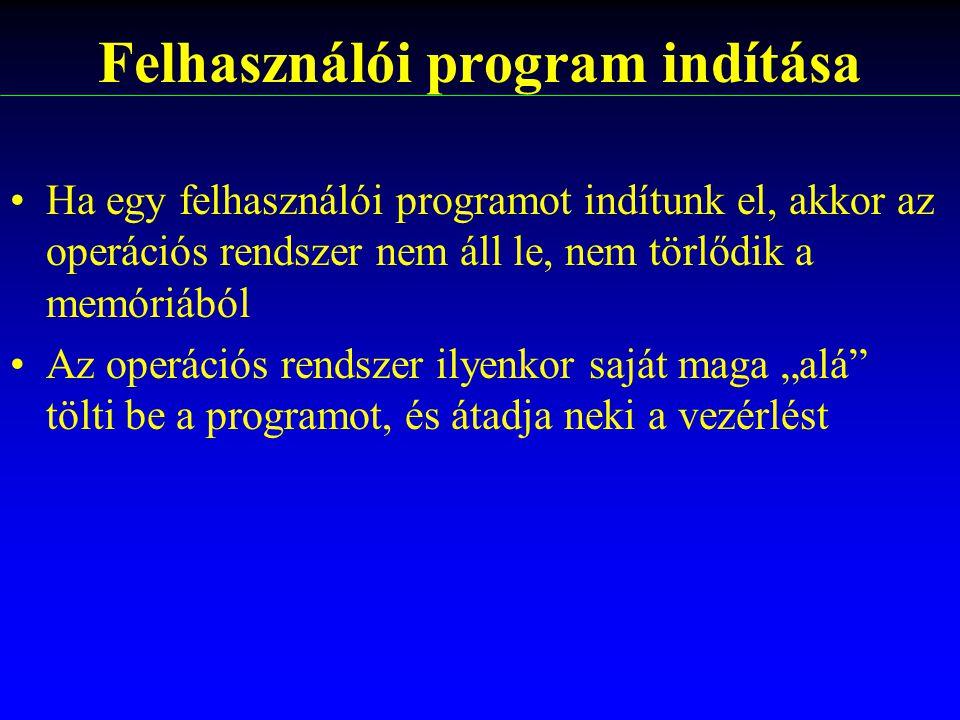 Felhasználói program indítása