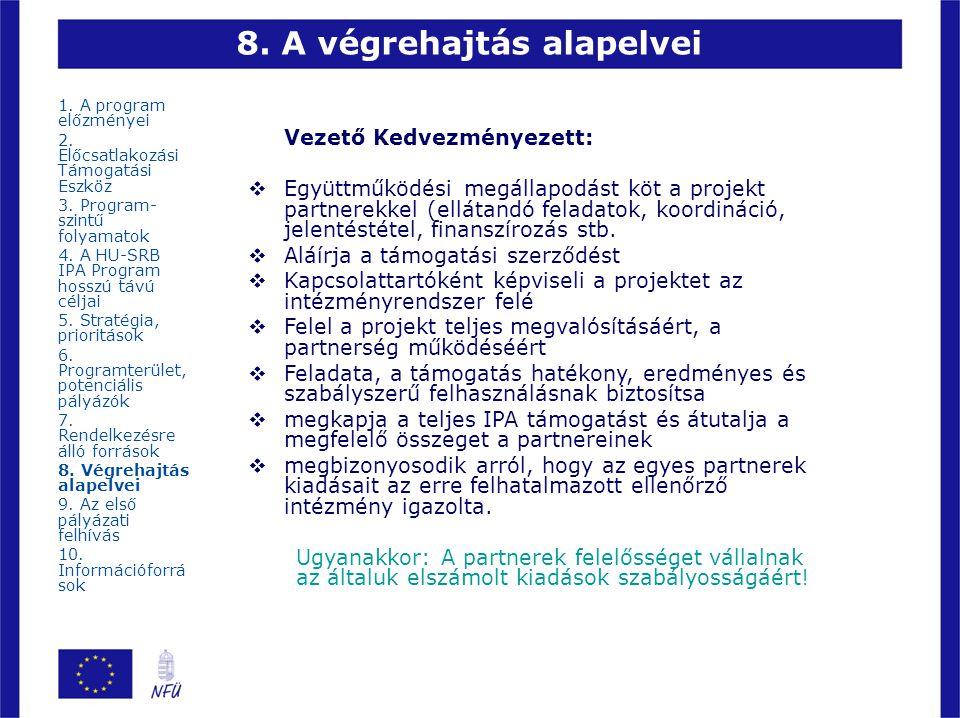 8. A végrehajtás alapelvei
