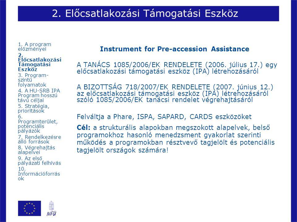 2. Előcsatlakozási Támogatási Eszköz