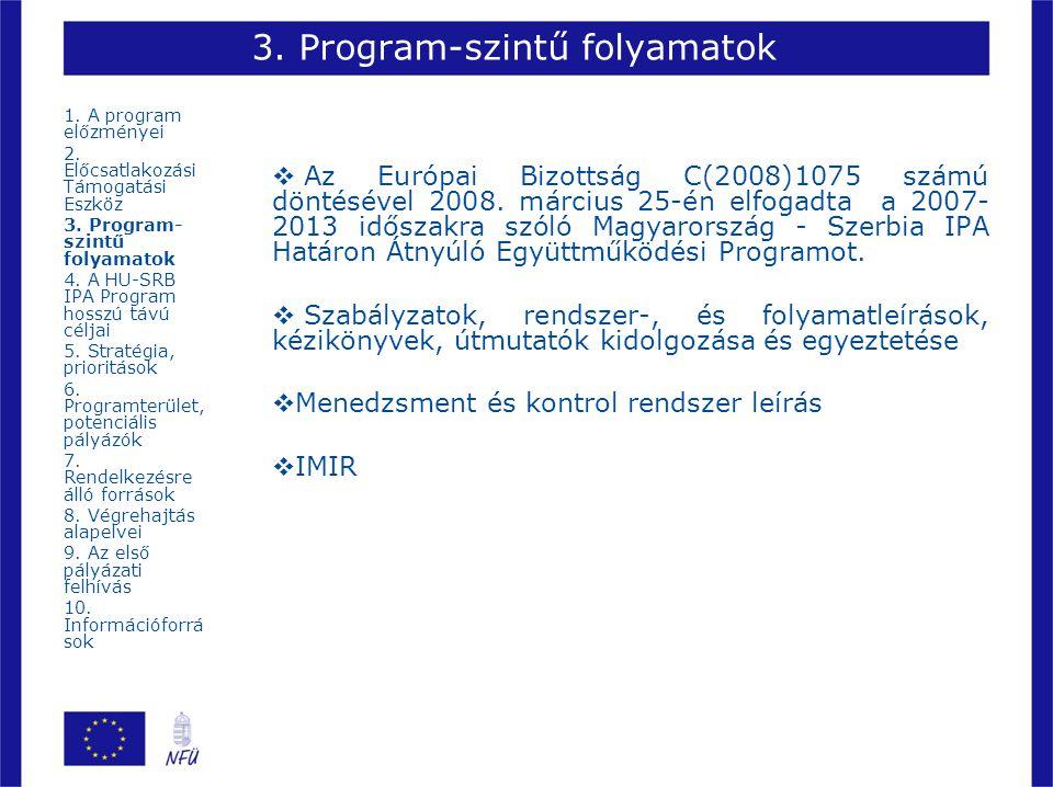 3. Program-szintű folyamatok