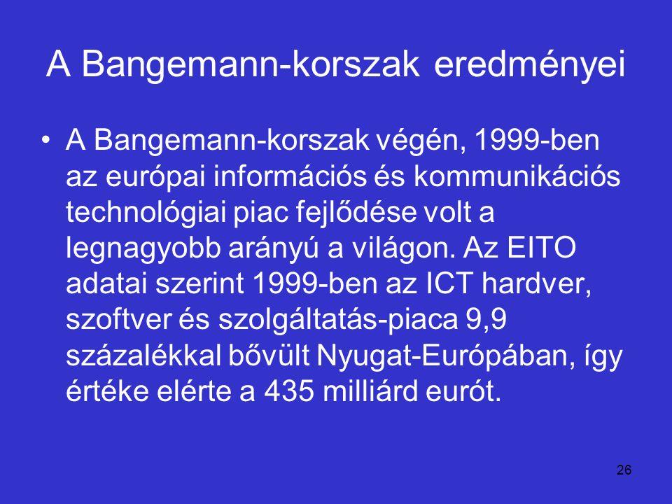 A Bangemann-korszak eredményei