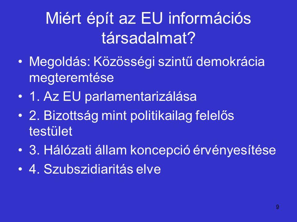 Miért épít az EU információs társadalmat