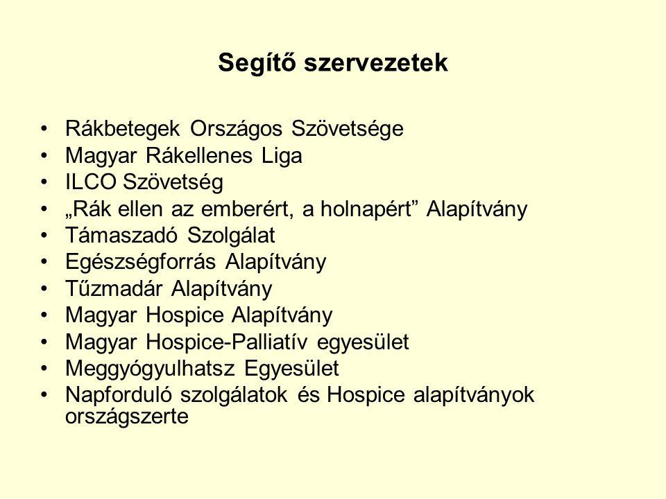 Segítő szervezetek Rákbetegek Országos Szövetsége