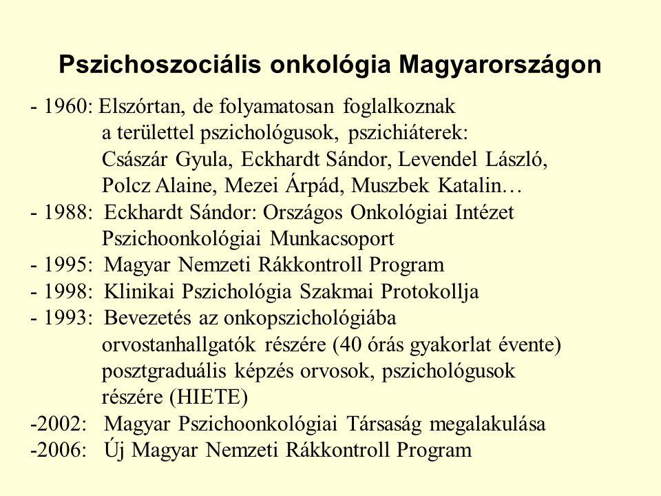 Pszichoszociális onkológia Magyarországon