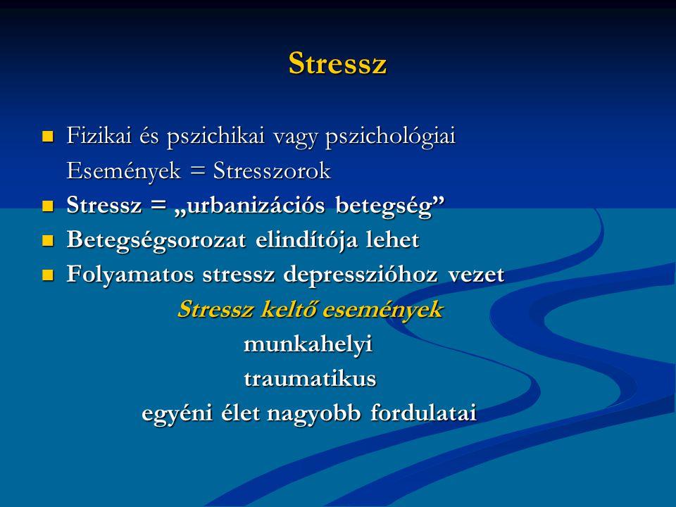 Stressz Fizikai és pszichikai vagy pszichológiai