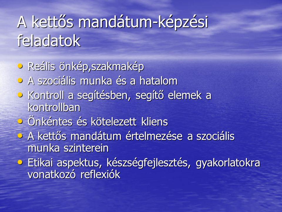 A kettős mandátum-képzési feladatok